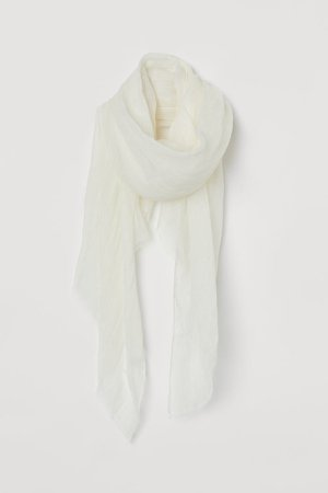 Linen Scarf - White