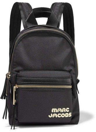 Trek Pack Mini Leather-trimmed Shell Backpack - Black