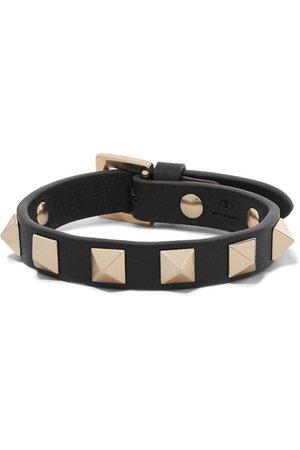 Valentino | Valentino Garavani The Rockstud leather bracelet | NET-A-PORTER.COM