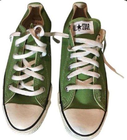 green sneaker shoes