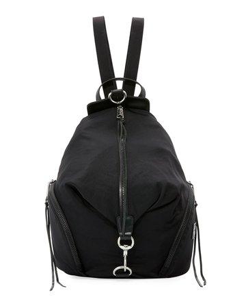 Rebecca Minkoff Washed Nylon Multi-Zip Backpack, Black | Neiman Marcus
