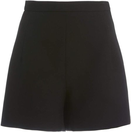 Andrew Gn High-Rise Wool Mini Shorts