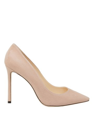 Romy Suede Blush Pumps | INTERMIX®