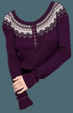 purple sweater shirt png