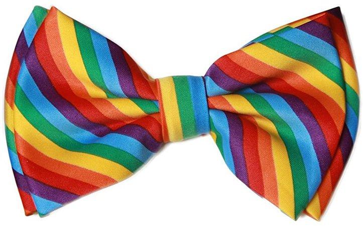 Amazon.com Pre-tied Bow Tie in Coool Brand Gift Box- Rainbow