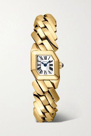 Gold Maillon de Cartier 16mm 18-karat gold watch | Cartier | NET-A-PORTER