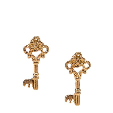 Gold Key Studs | Icing US