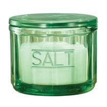 Depression Style Glass Salt Cellar with Lid, Classic Green - Walmart.com - Walmart.com