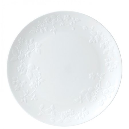 Wild strawberry white plate