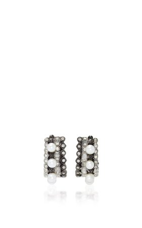Massai 18k Oxidized Gold, Diamond And Pearl Earrings By Colette Jewelry | Moda Operandi