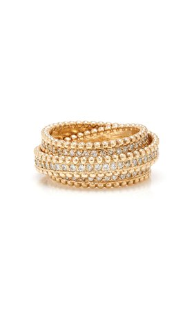 14K Gold Diamond Ring by Sophie Ratner | Moda Operandi