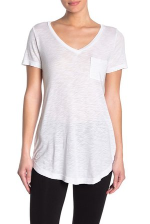 Splendid | V-Neck Curve Hem Longline T-Shirt | Nordstrom Rack