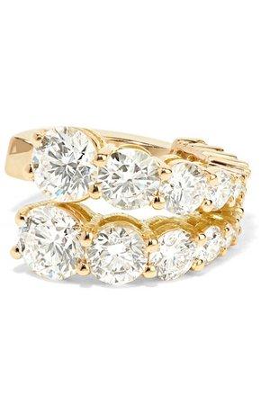Melissa Kaye   Aria 18-karat gold and diamond ear cuff   NET-A-PORTER.COM