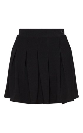 Black Pleated Tennis Skirt   PrettyLittleThing USA