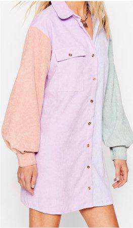 pastel color block dress