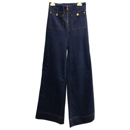 Blue cotton - elasthane jeans Alice Mccall Blue size 36 FR in Cotton - elasthane - 8397317