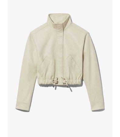 Proenza Schouler White Label Leather Cropped Jacket - ShopBAZAAR