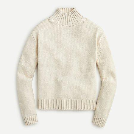 J.Crew: Mockneck Sweater In Cotton Blend For Women