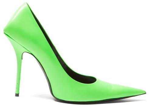 Square Knife Pumps - Womens - Green