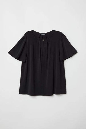 Creped Jersey Top - Black