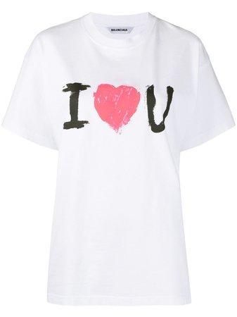 Balenciaga I Love You Print T-shirt - Farfetch