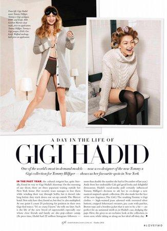 A Day in The Life Of Gigi Hadid in Harper's Bazaar Australia with Gigi Hadid - (ID:35840) - Fashion Editorial | Magazines | The FMD