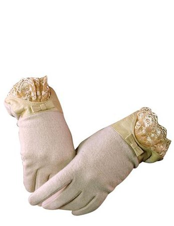 IVORY CASHMERE GLOVES - Ladylike Lace & Leather Gloves