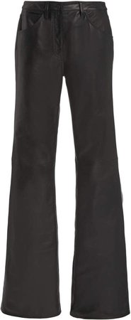 NILI LOTAN Celia Leather Flared-Leg Jeans