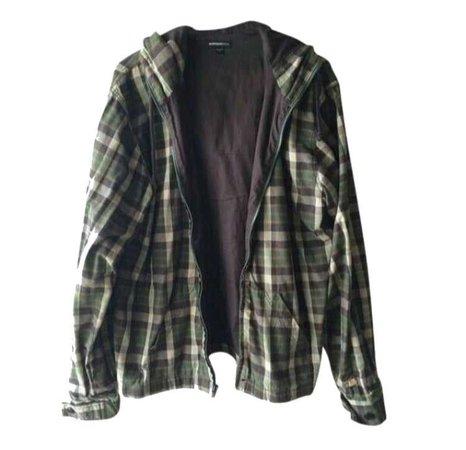 Green Zip Up Flannel