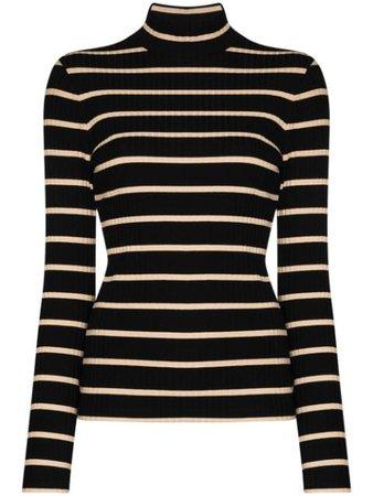 Ninety Percent Striped Roll Neck Top - Farfetch