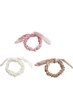 Slip | The Bunny set of three silk hair ties | NET-A-PORTER.COM