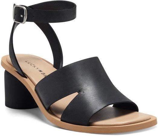 Pemal Black Heel Sandal