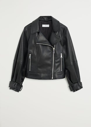 Biker jacket - Women | Mango USA black
