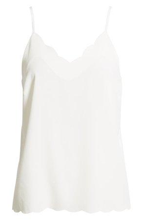 Halogen® Scallop Detail Camisole (Regular & Petite) | Nordstrom