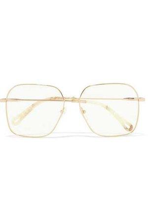 Chloé | Palma square-frame gold-tone optical glasses | NET-A-PORTER.COM