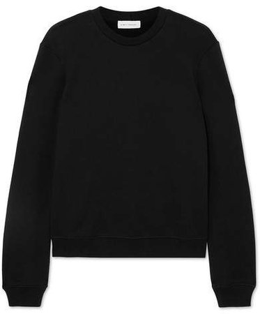 Ninety Percent - Stephanie Organic Cotton-jersey Sweatshirt - Black