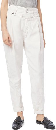 Twist Seam Belted Tapered Trousers