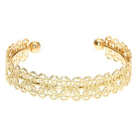 Gold Filigree Cuff Bracelet | Claire's US