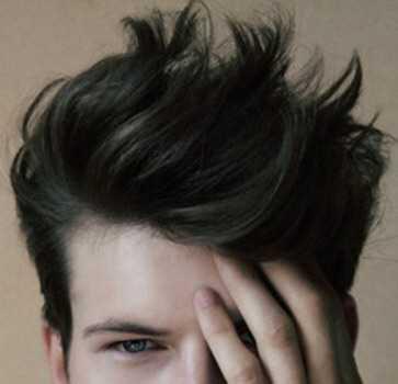 male black hair