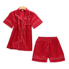 red silk pajamas shorts - Google Search