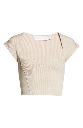 Jonathan Simkhai Abia Rib Crop Sweater   Nordstrom