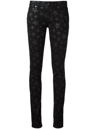 Saint Laurent Star Print Skinny Jeans | Farfetch.com