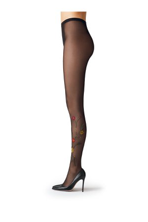 Embroidered Tights Gr. L