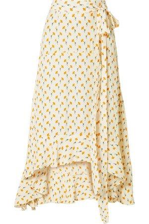 Faithfull The Brand   Kamares ruffled wrap-effect floral-print crepe skirt   NET-A-PORTER.COM