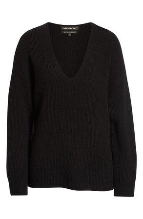 Something Navy V-Neck Sweater (Nordstrom Exclusive) | Nordstrom