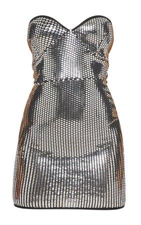 Silver Mirrored Sequin Bandeau Bodycon Dress | PrettyLittleThing USA