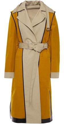Reversible Two-tone Cotton-canvas Trench Coat