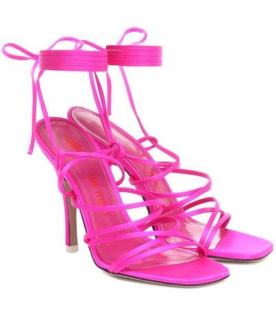 Satin Sandals - The Attico   Mytheresa