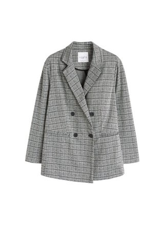 Violeta BY MANGO Check unstructured blazer
