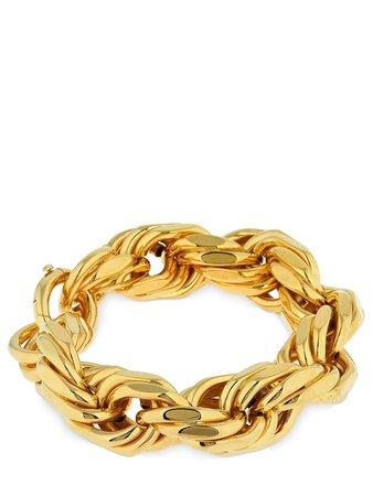 Bottega Veneta, Gold Braided Chunky Chain Bracelet